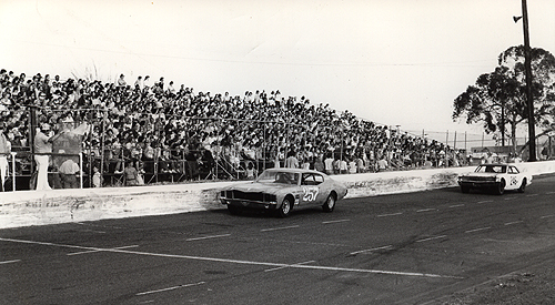 Tim Biggers is on the flagstand,