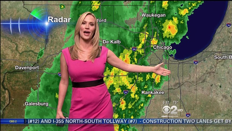 Megan Glaros Hot CBS Weather Girl (WBBM)