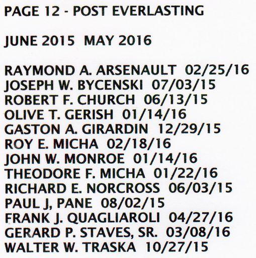 PAGE 12j - POST EVERLASTING - JUN 1, 2015-MAY 31, 2016
