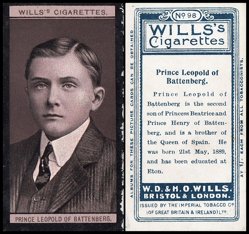 1908 Wills European Royalty #098