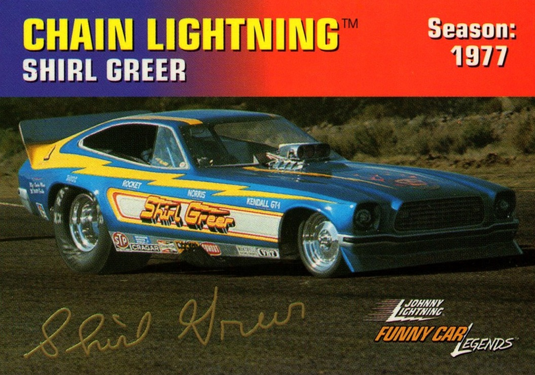 Johnny Lightning Funny Car Legends 1977 Shirl Greer