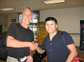 My flight mate (Rolando Castillo) from Miami to Lima, Peru.