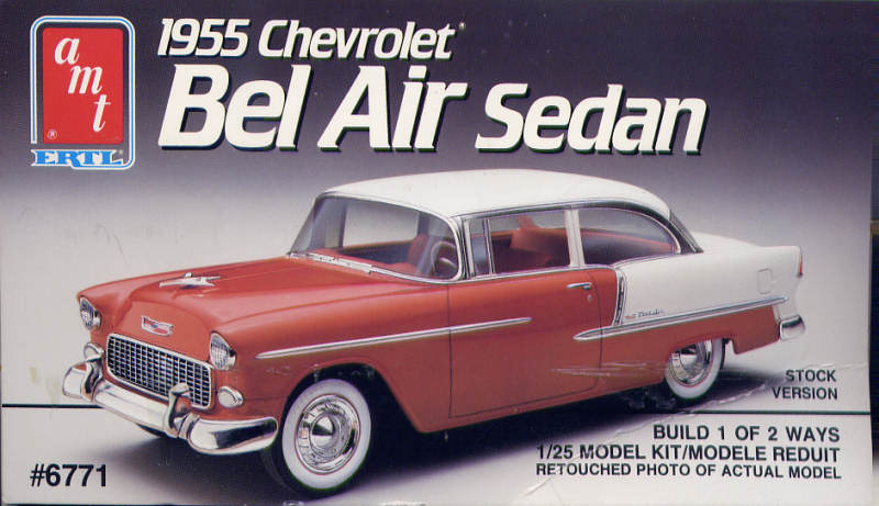 Photo: 1955 Chevrolet Bel Air Sedan Box 4 | AMT 1955 chevy ...