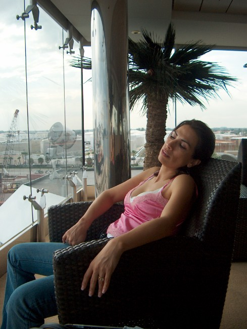 Olivia in the Relaxation Room