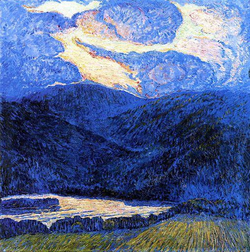An Evening Mountainscape [1909]
