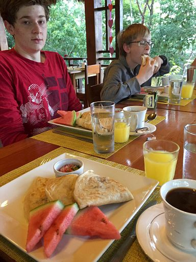 breakfast at the jungle resort