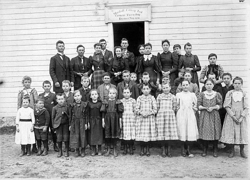 German twp disc 9 (Muncie) school c1891