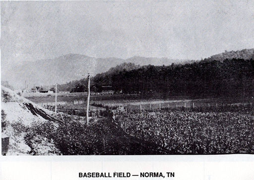 BASEBALL FIELD AT NORMA, ABOUT 1916