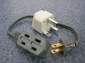 UK Plug Adaptor needed for some parts of India with small USA extension cord to be able to plug in multiple items in case there is only one receptacle.