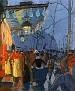 Avenue de Clichy, le soir, cinq heures [1887]