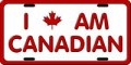 License Plate - I Am Canadian (small)