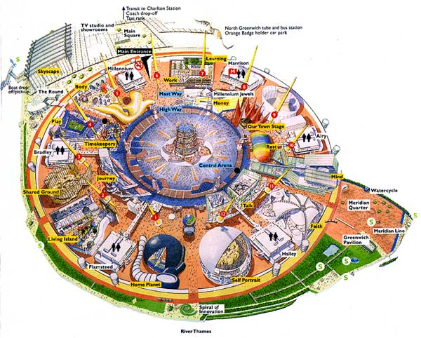 Layout of The Millennuim Dome