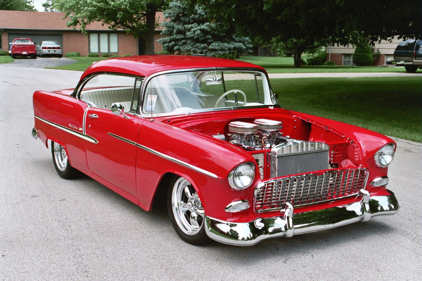 Photo 55 chevy after first trip to goodguys 1955 chevy bel air sport coupe el diablo - 1955 chevrolet belair sport coupe ...