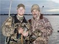 Chris Haile and his son on a hunting trip.
