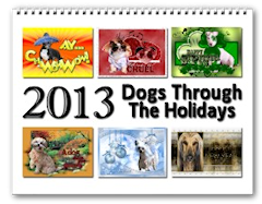 2013 Dogs Through the Holidays Calendar zazzle_calendar