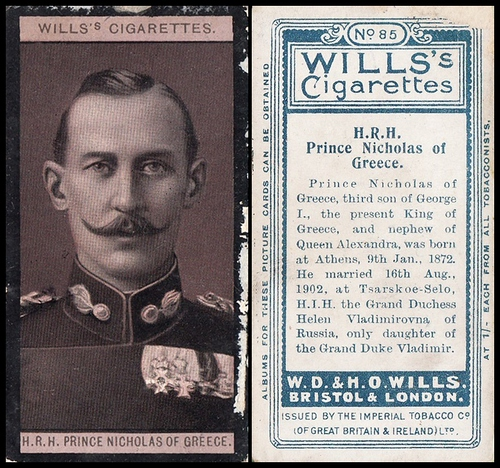 1908 Wills European Royalty #085