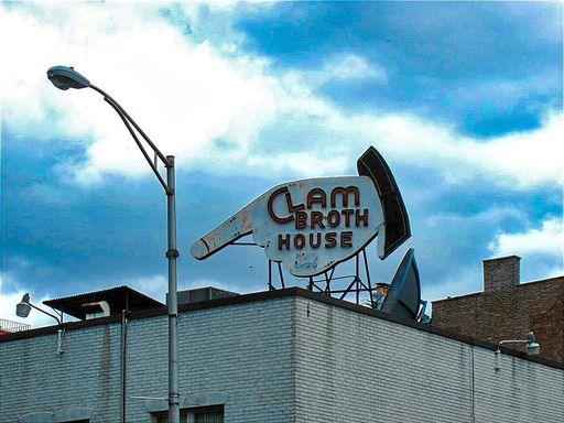CLAM BROTH HOUSE SIGN