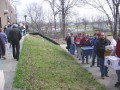DSC00001 This is the BACK of the P.A.L. around 9:00 AM. Just as I grabbed my camera, the line started to move. We were at the front door by 9:15
