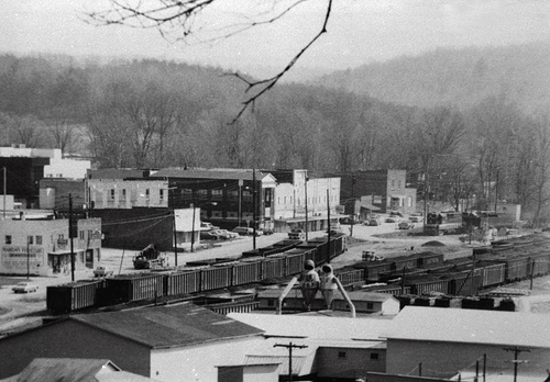 DOWNTOWN ONEIDA IN THE 7O's, AT BOTTOM OF PIC IS TIBBLES FLOORING