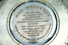 10 - Plaque in the deck of the Missouri