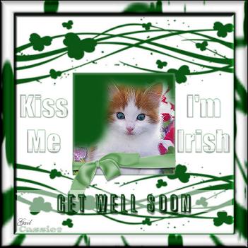Get Well Soon-gailz-Kiss Me Im Irish QP by Cassie