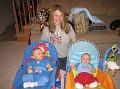 olga with babies