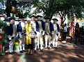 Rachel in the company of American Revolutionary war soldiers.