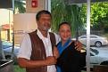 Carl Craig, Haitian-American artist in the company of PR Rachel Moscoso Denis.