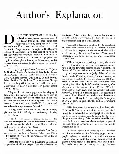 STONINGTON CHRONOLOGY - PAGE 007