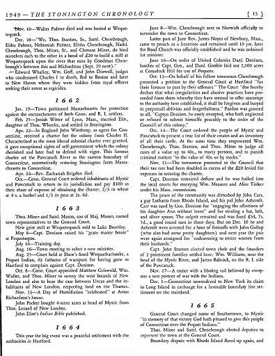 STONINGTON CHRONOLOGY - PAGE 015