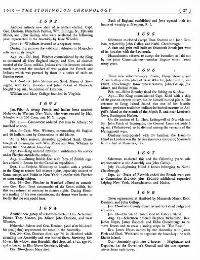 STONINGTON CHRONOLOGY - PAGE 027