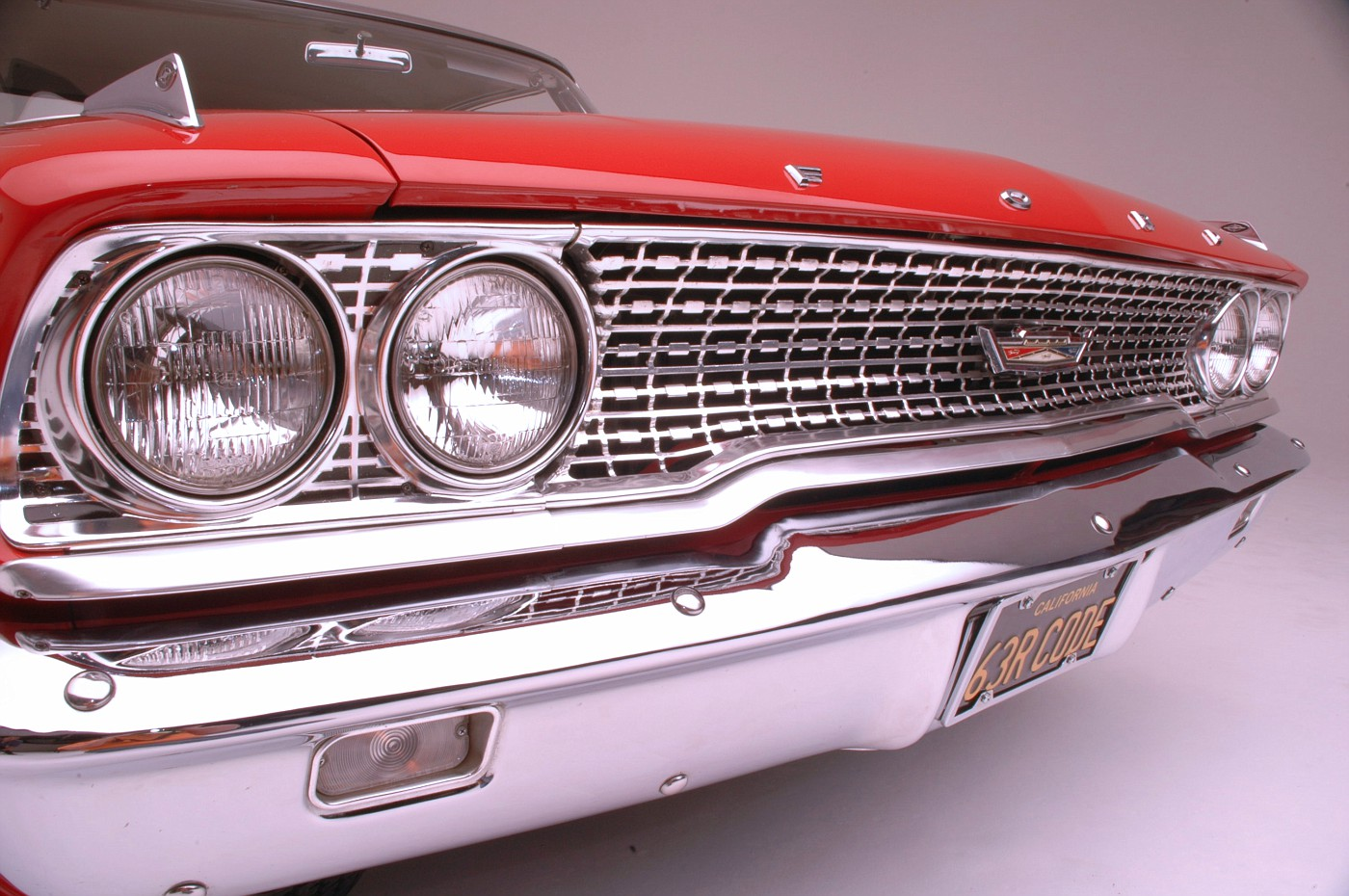 1963 ford galaxie 500 427 - 1963 Ford Galaxie 500 Xl 427 R Code Front Grille Detail 1