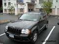 Jeepen parkerad utanför Best Western i Budd Lake, New Jersey.