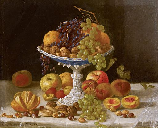 Strawberries and Cakes [1860]