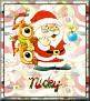 Santa with friendsTaNicky