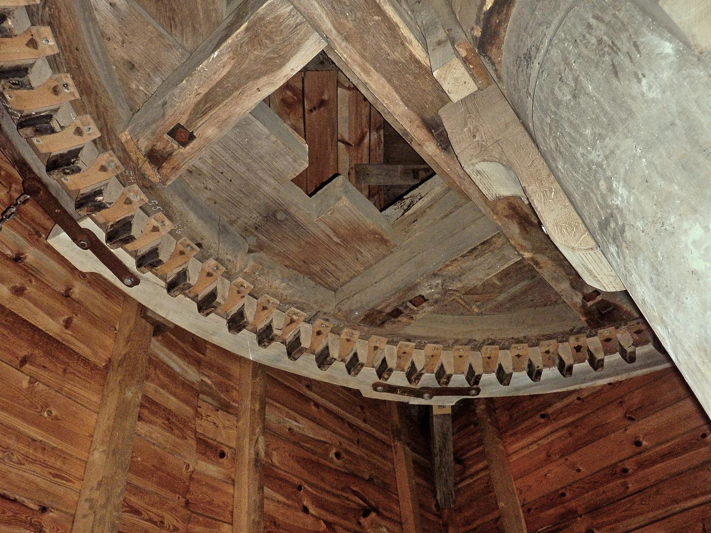 Bremsbacken der Bockwindmühle