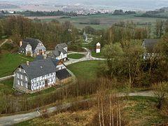 Blick auf Sauerländer Dorf