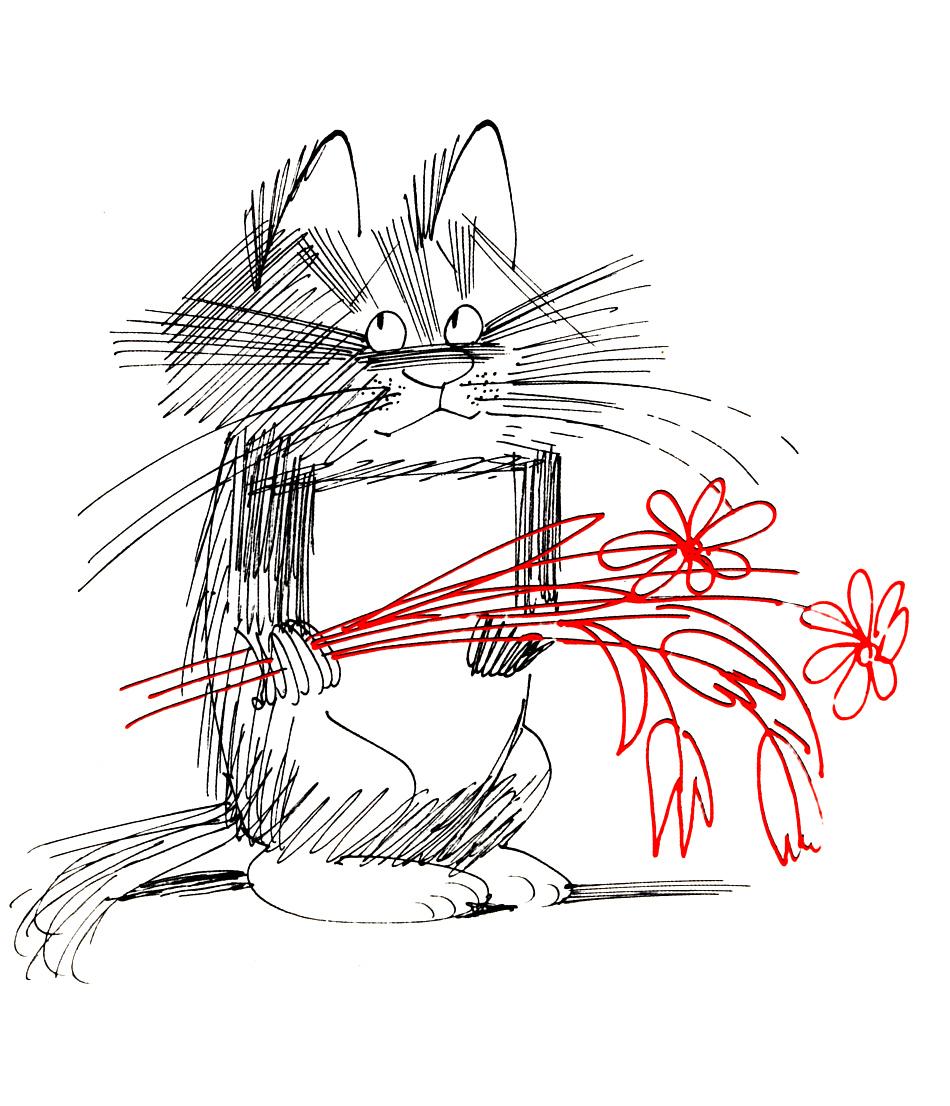 Открытки коты чижикова, открытки тебя помним