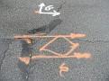 Street markings outside of Sandy/Illene's castle