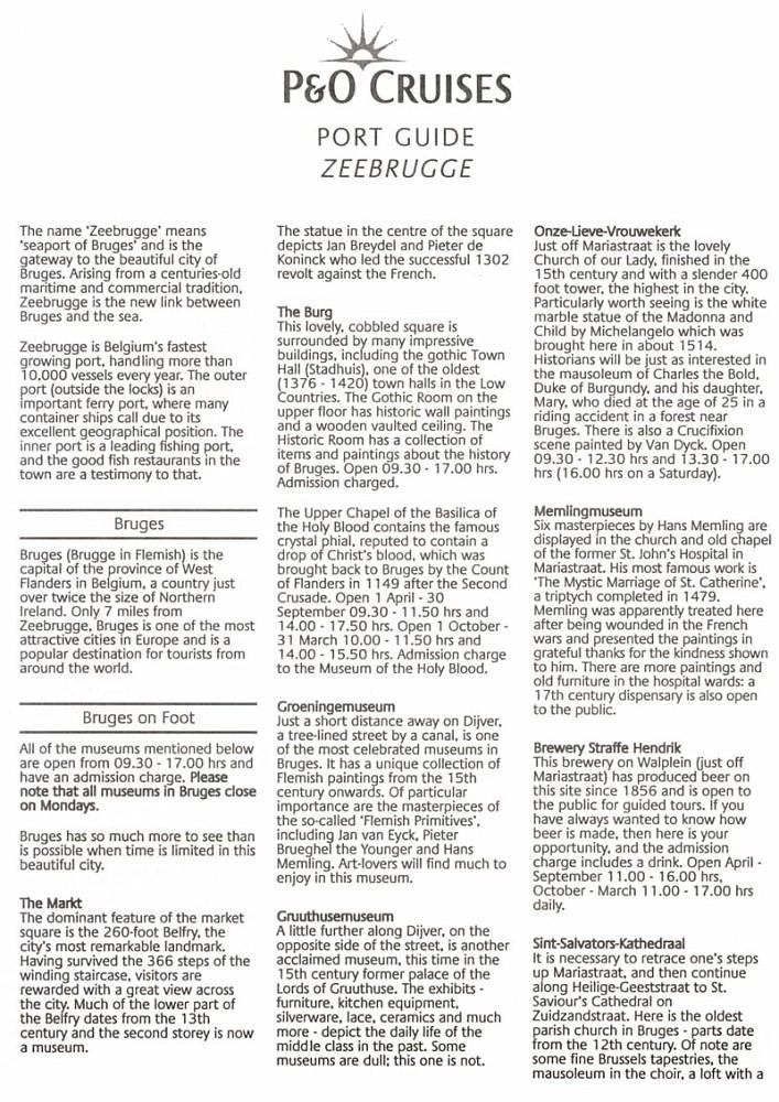 Zeebrugge Port Guide [03/08] Page 1