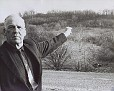 Mr. Dolwick Points to Area of AA 383 Crash November 9, 1965.