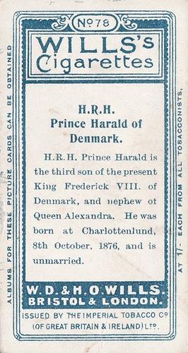 1908 Wills European Royalty #078 (2)