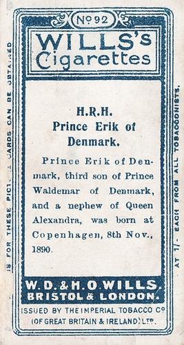 1908 Wills European Royalty #092 (2)