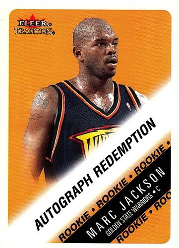 2000-01 Fleer Tradition Autograph Redemption Marc Jackson (1)