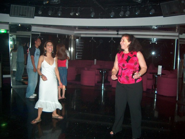 Olivia and Susan in Byblos disco