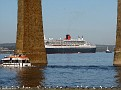 Forth Railway Bridge,QM2 & Tender