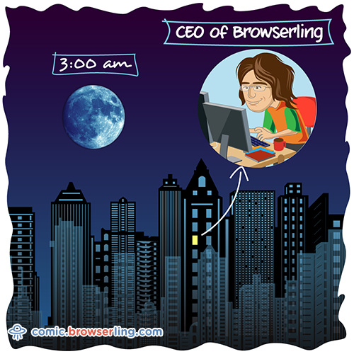 CEO of Browserling - Weekly comic about web developers, software and browsers