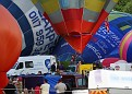 Busy Balloonists Inflating Canopies