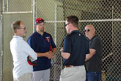 IMGP1796 - L-R - Jim Pohlad, Michael Cuddyer, Derek Falvey and ?