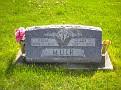 Edna Mae Wollam Muir & Clare Thomas Muir grave, Lebanon Cemetery, Lebanon, Van Buren County, Iowa. Photo from Jerry Nelson, Findagrave.com.